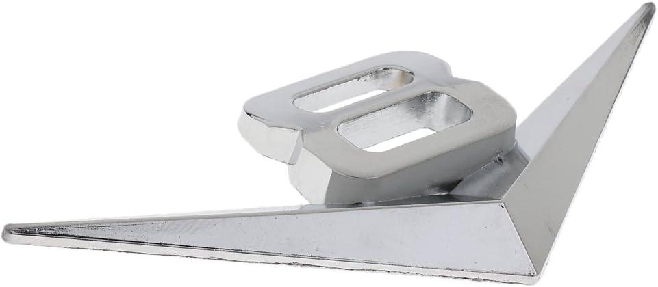 Metal V8 Chrome Trunk Rear Fender Silver Sticker Emblem Car 3D Badge Decal
