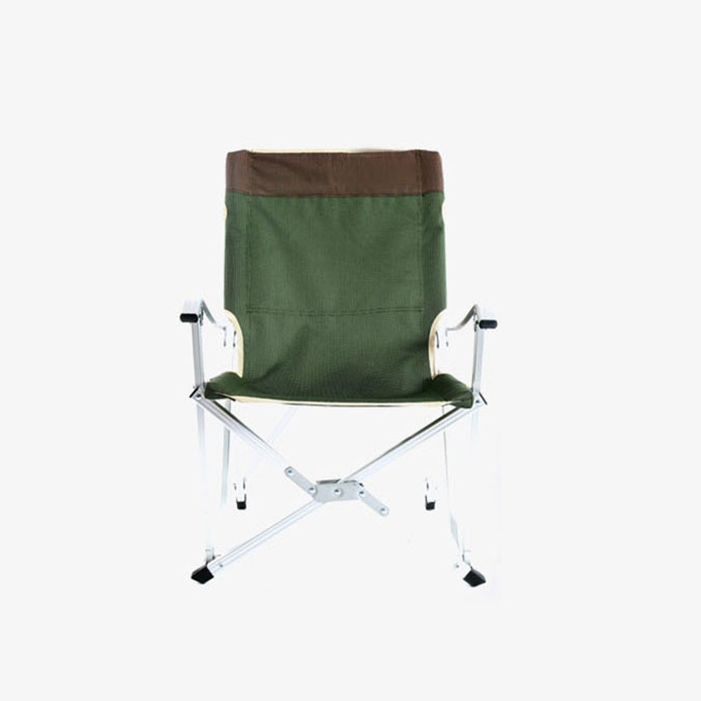 Emma home Recliners Ultra-light Aluminum Alloy Folding Chair With Backrest Fishing Chair Portable Deck Chair Beach Chair (Color : Green)