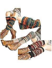 Lucky staryuan ® Women Set of 3 Thicker Wool Knit Leg Warmer