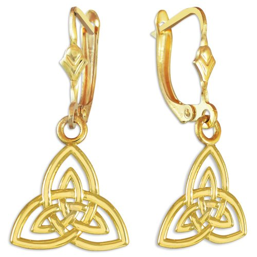 14k Yellow Gold Trinity Earrings ()