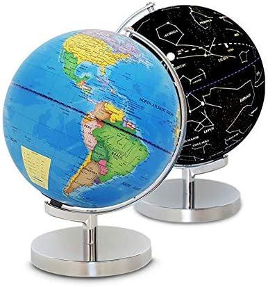Globes 25 Cm Verlichte LED Draaibare Wereldbol Wereldkaart Educatieve Grote Tafelbol Perfect voor bureaudecoratie en het beste voor kinderen
