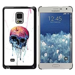 Caucho caso de Shell duro de la cubierta de accesorios de protección BY RAYDREAMMM - Samsung Galaxy Mega 5.8 - Melting Cráneo de Apple