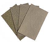 Diamond Sandpaper Abrasive Paper Sheets for Sanding Stone Glass Ceramic by Z-LION (4pcs/set)