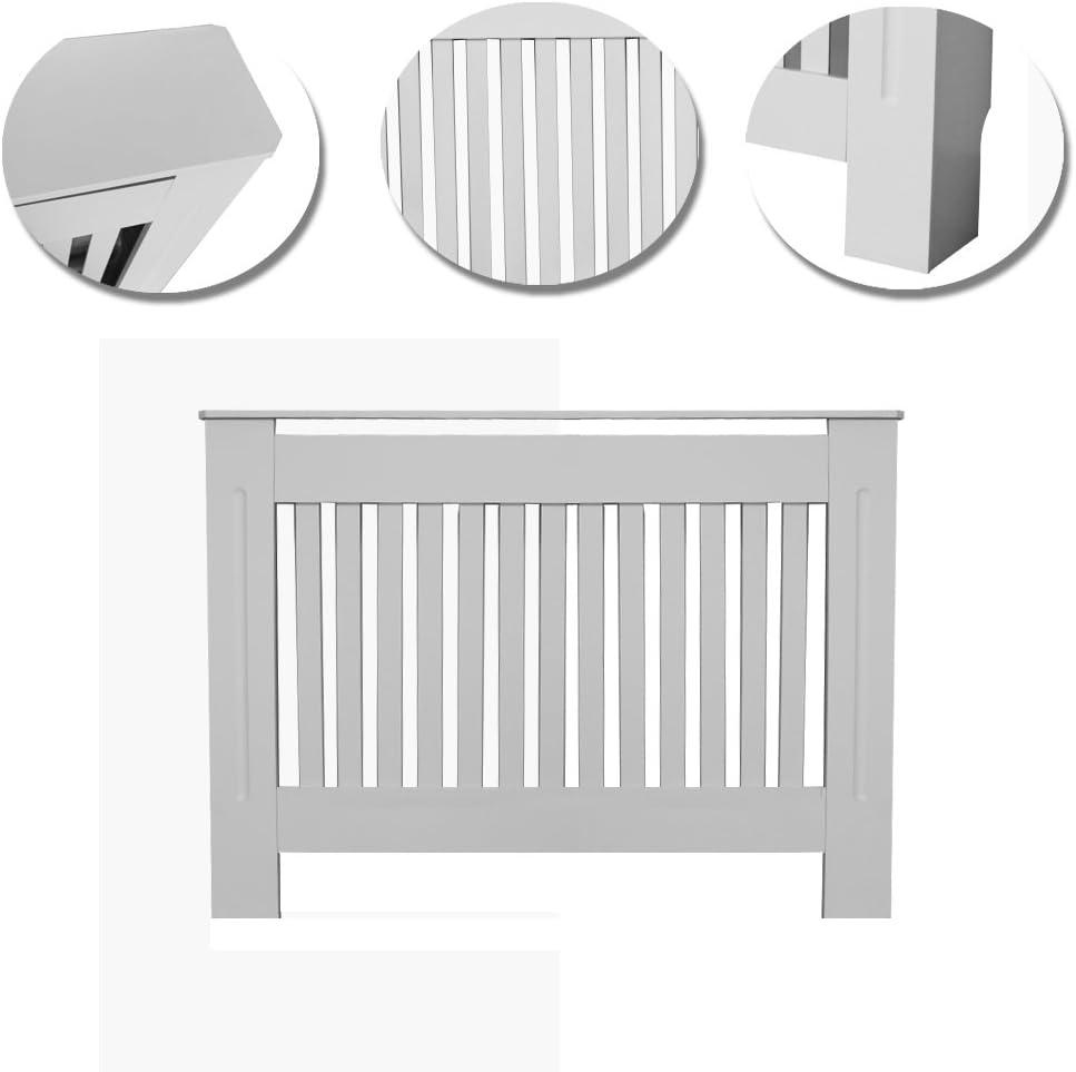 Copritermosifone Verniciato Verticale Stile Moderno doghe Bianco MDF Gamma Dimensioni L 1122 x P 190 x H 815 mm