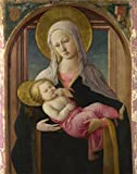 'Fra Filippo Lippi And Workshop - The Virgin And Child,about 1450-60' Oil Painting, 8x10 Inch / 20x26 Cm ,printed On High Quality Polyster Canvas ,this Cheap But High Quality Art Decorative Art Decorative Canvas Prints Is Perfectly Suitalbe For Bar Decor And Home Artwork And Gifts