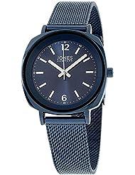 Jones New York Blue Dial Stainless Steel Ladies Watch 11541N528-007
