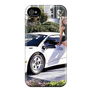 Tpu Shockproof/dirt-proof Blonde And Car Cover Case For Iphone(4/4s) by runtopwell