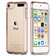 iPod Touch 5 Case , iPod 6 Case, ULAK [CLEAR SLIM] Soft TPU Bumper PC Back Hybrid Case Cover for iPod Touch 5 & 6 - Rose Gold