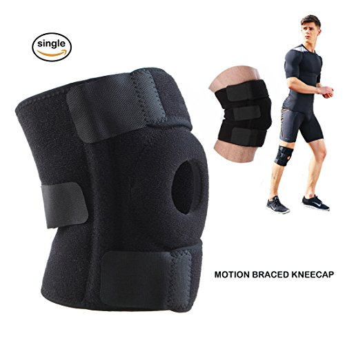 JOSMACO Knee Brace Support Sleeve Arthritis, Meniscus Tear, ACL, Running, Basketball, Sports, Athletic, MCL, Runners - Adjustable Open Patella Stabilizer Protector to Relieve Pain by JOSMACO
