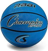Champion Sports Pro Rubber Basketball, Royal Blue