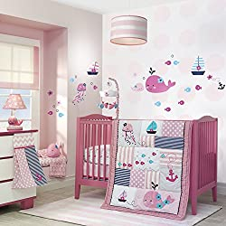 Lambs and Ivy Splish Splash Girl's Bedding Set
