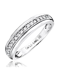 1/7 CT. T.W. Round Cut Diamond Women's Wedding Band 14K White Gold