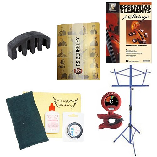 ack - Essential Accessory Pack for the Viola: Includes: Viola Care & Cleaning Kit, Viola Mute, Music Stand, Band Folder, Essential Elements 2000 Book 1 for Viola, & Tuner & Metronome ()