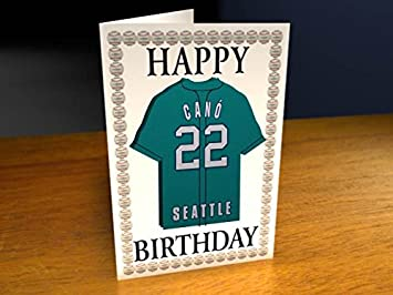 Mlb Major League Baseball Jersey Themed Greeting Cards Personalized Birthday Cards Any Name Any Number Any Team