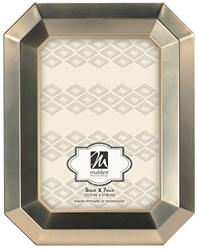 Malden International Designs Gilded Wilshire Octagon Picture Frame, 5x7, - Frame Octagon
