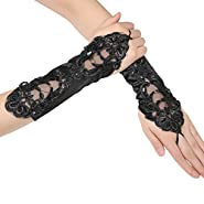 """BABEYOND Long Opera Party 20s Satin Gloves Stretchy Adult Size Elbow Length 20.5"""""""