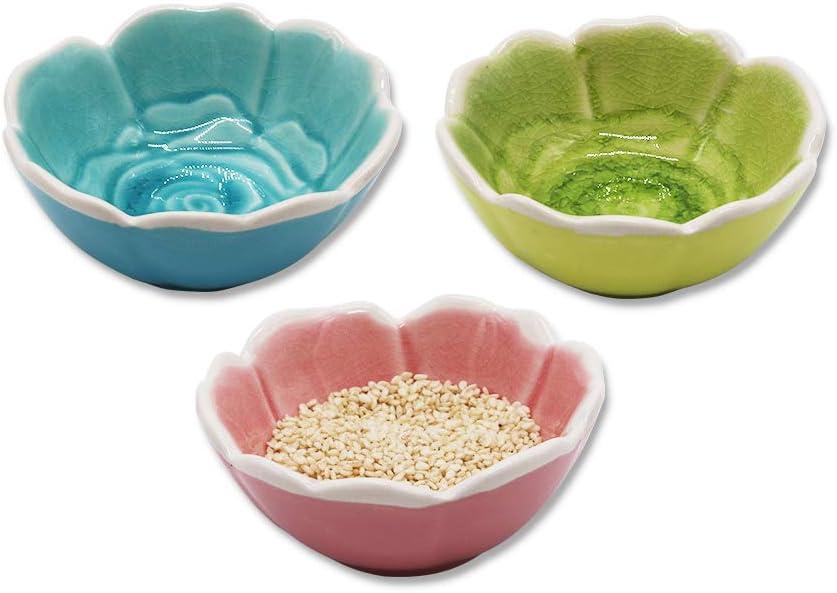 4pcs Ceramics Dot Sauces Dish Seasoning Dishes Dipping Bowl Appetizer Serving Saucers Dessert Plate Spoons