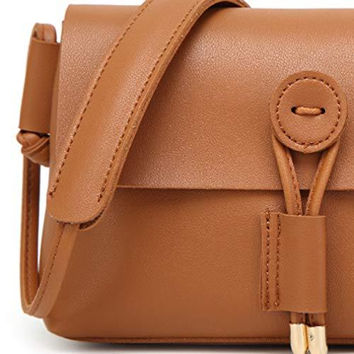 Per Vintage Messenger Cuoio Le A Marrone Ragazza Spalla Crossbody Satchel Borsa Briefcase Signore Donne Bag Bags Delle Purse grey xYwwqd6F