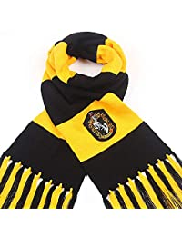 Fashion warmth surrounding contrast stripes tassels autumn and winter wool COS clothing from Harry Potter and Hawkworth RedWind (Hufflepuff)
