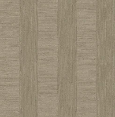 A-Street Prints 2908-25308 Intrepid Beige Faux Grasscloth Stripe Wallpaper