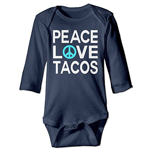 Homemade Domino Costumes - Fashion Baby Boys & Girls Peace Love Tacos Long-sleeve Playsuit