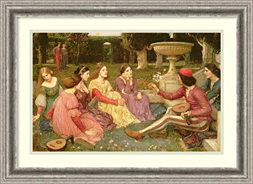 Medieval Minstrel Costume (Framed Art Print 'The Decameron, 1916' by John William Waterhouse)