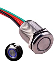 """Ulincos Touch Switch UT19Z1 Latching Switch DC 6V to 24V Blue LED Suitable for 19mm 3/4"""" Mounting Hole"""