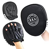 outdoortips 2 X Leather Boxing Mitt Training Target Focus Punch Pad Glove Karate Muay Thai Kick MMA