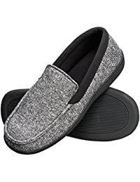 Men's Slippers House Shoes Moccasin Comfort Memory Foam Indoor Outdoor Fresh IQ