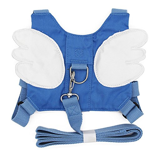Baby Safety Walking Harness – Child Leash Backpack with Kids Anti-Lost Strap for Toddlers (Blue-Angel Wings)