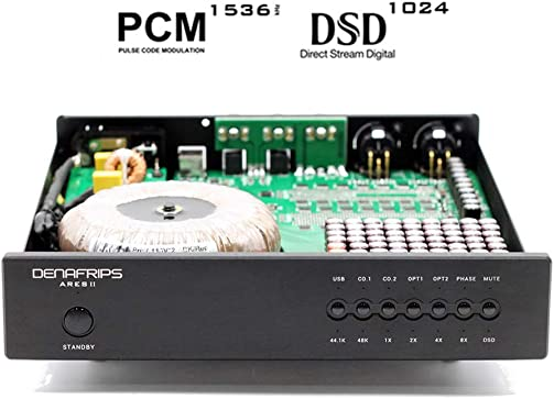 Denafrips ARES II DSD DAC PCM1536 DSD1024 Balanced Resistance R2R Decoder SPDIF FIFO Low Jitter Digital Audio Decoding USB Sound Card