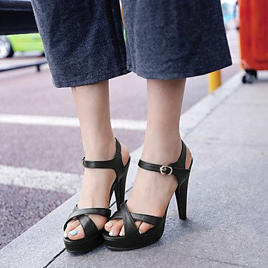 LvYuan Mujer-Tacón Stiletto-D'Orsay y Dos Piezas Zapatos del club-Sandalias-Boda Vestido Fiesta y Noche-Semicuero-Negro Rosa Blanco Pink