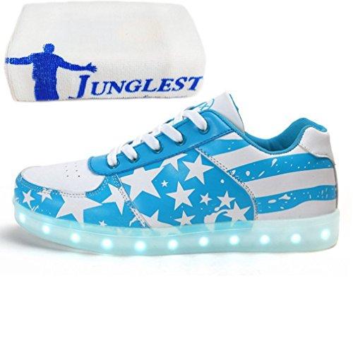 (Presente:pequeña toalla)JUNGLEST USB Carga de la Zapatilla Zapatillas de Deporte Con 7 Colores de Iluminación LED Intermitente Para los Amantes de N c43