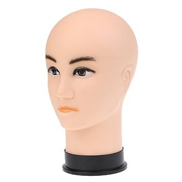 Styroporkopf weiblich Perückenkopf Dekokopf Kopf Deko Schaufensterdeko weiß