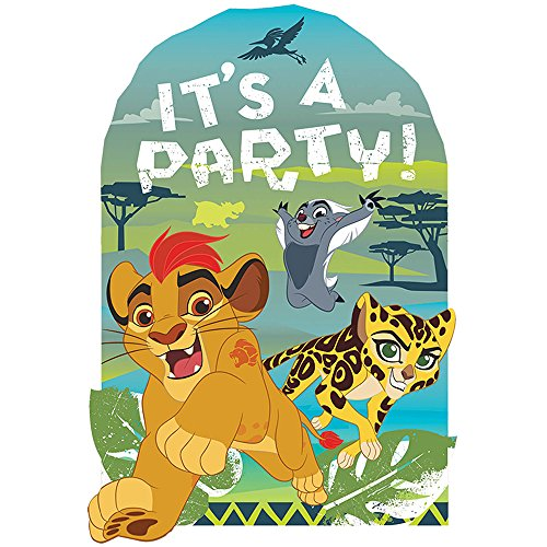 Amscan Disney The Lion Guard Postcard Invitations, Party Favor One Size, Multicolor