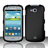 Importer520 Rubberized Snap-On Hard Skin Protector Case Cover for For (Cricket/US Cellular) Samsung Galaxy Axiom R830 / Admire 2 - Black