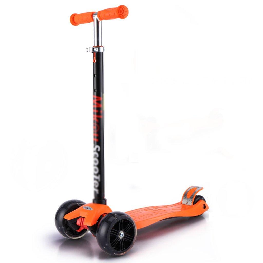 DWW-Scooters para niños Pedal plegable desmontable Flash Rueda de desgaste PU gruesa Absorción de impactos antideslizante Perfecto para niños y niños mayores de 3 años Scooter para niños con tres ruedas pequentil