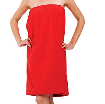 1b6d15a83f Amazon.com: robesale Terry Cotton Beach Towel Wrap for Women, RED Color, XX  Size: Home & Kitchen