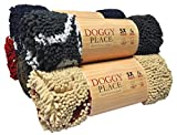 My Doggy Place - Ultra Absorbent Microfiber Dog Door Mat, Durable, Quick Drying, Washable, Prevent Mud Dirt, Keep Your House Clean (Charcoal w/Paw Print, Runner) - 60 x 36 inch