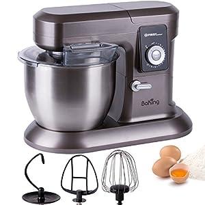 1200W Küchenmaschine mit 6,5 Liter Schüssel Rührgerät Knetmaschine Teigkneter