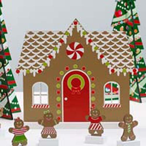 Gingerbread Ideas For Christmas - Design Ideas Gingerbread House and Figurines Set