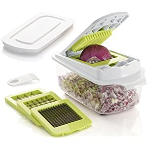 Brieftons QuickPush Food Chopper (BR-QP-02): Strongest & 200% More Container Capacity, 30% Heavier Duty, Onion Chopper…