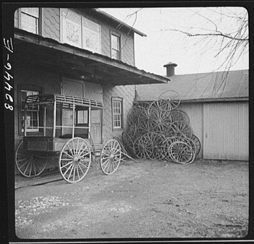 Photo: Lancaster County,Pennsylvania. Amish wagon shop - Shopping Lancaster Pennsylvania