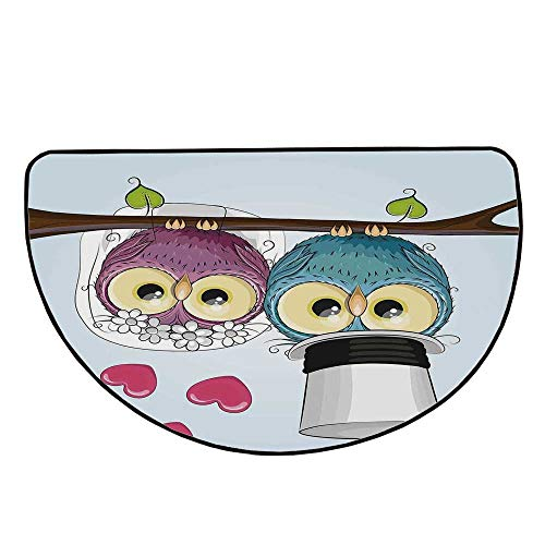 Wedding Decorations Comfortable Semicircle Mat,Two Cartoon Style Cute