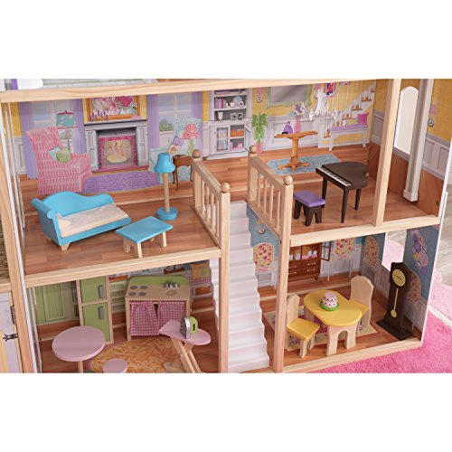 51c22J86EdL - KidKraft So Chic Dollhouse with Furniture