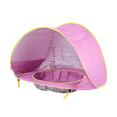 ladiy Kids Baby Games Outdoor Swimming Pool Waterproof Portable House Toys Beach Tent Shoulder Bags Pink: Clothing