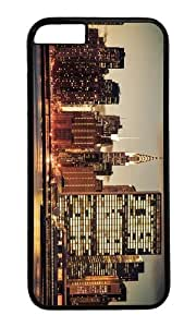 MOKSHOP Cute new york city skyline Hard Case Protective Shell Cell Phone Cover For Apple Iphone 6 (4.7 Inch) - PC Black