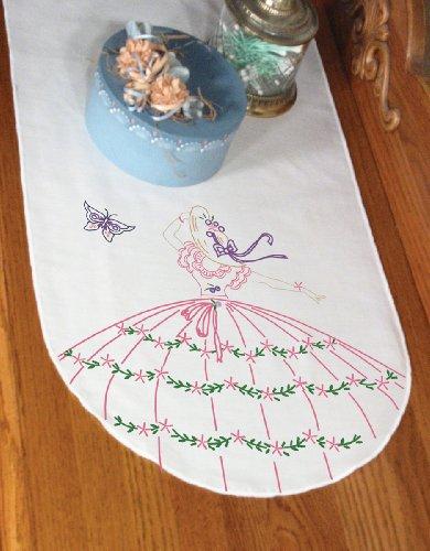 Dresser Butterflies Scarf (Fairway Stamped Perle Edge Dresser Scarf 15