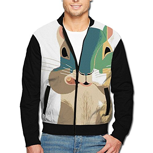YUYUZHE WOXIANJIN Mens Casual Jacket Front-Zip Jacket Squirrels Fat Face Christmas Mens Jackets and - Sale Face Mens Fat