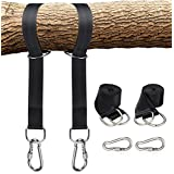 Tree Swing Hanging Kit Straps, DUTISON 5ft Straps with 2 Strong Heavy Duty Carabiners, Holds 2200 lbs, Fast Swing Hanger Installation to Tree, Perfect for Swings and Hammocks, Great for your Kids